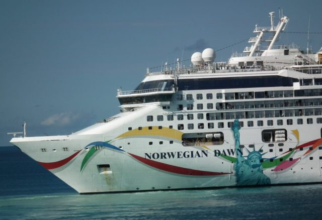 The Norwegian Dawn is a sister ship to the Gem. Shown here in port in Bermuda. THE CHESAPEAKE TODAY photo