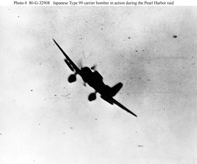 Jap Zero attacking during Pearl Harbor attack