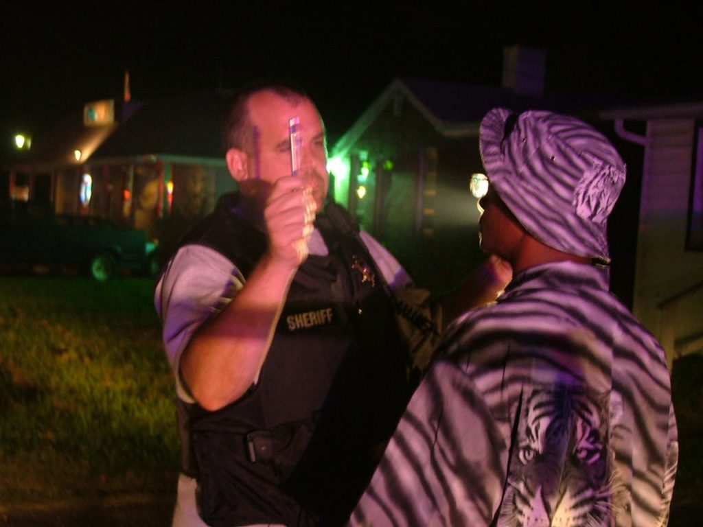 Captain Dan Alioto at scene of a DUI arrest in Great Mills, Md.