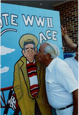 Vote for Rue! The WWII Ace ran for president of the St. Mary's Board of Commissioners in the GOP primary in 1994 and again for Board of Education. He kept both races from being dominated by boring and mundane candidates. THE CHESAPEAKE TODAY photo