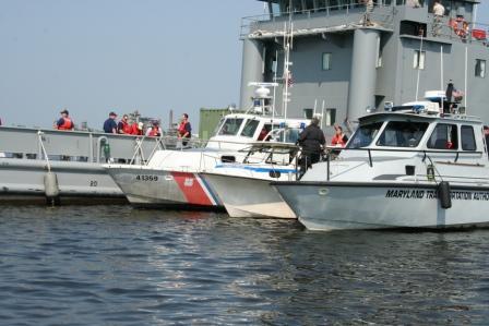 Coast Guard drill near Baltimore, Maryland. The Chesapeake Today photo