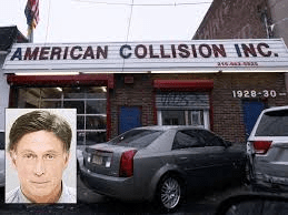 Ronald Galati and his body shop which had city contracts. Photo courtesy of Philly.com