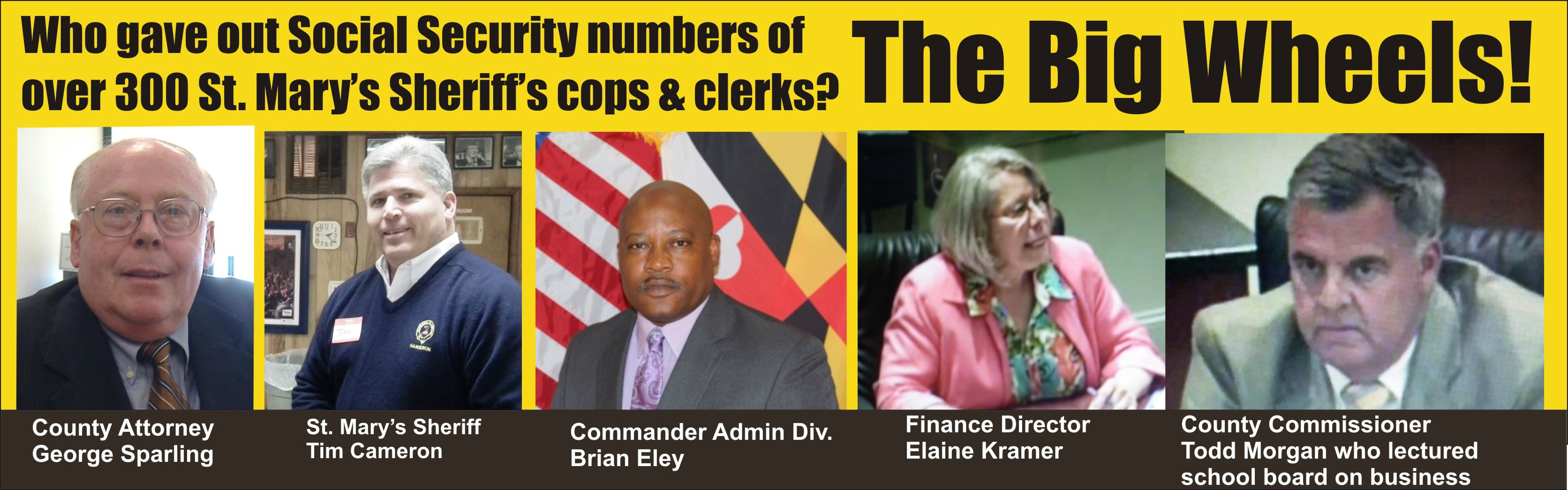 St Mary S County Officials Exposed Social Security
