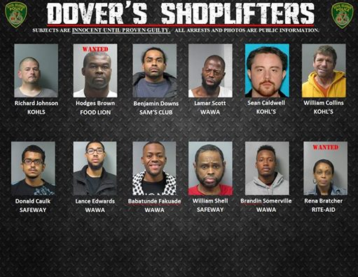 Dover's Shoplifters for Dec. 5th 2014