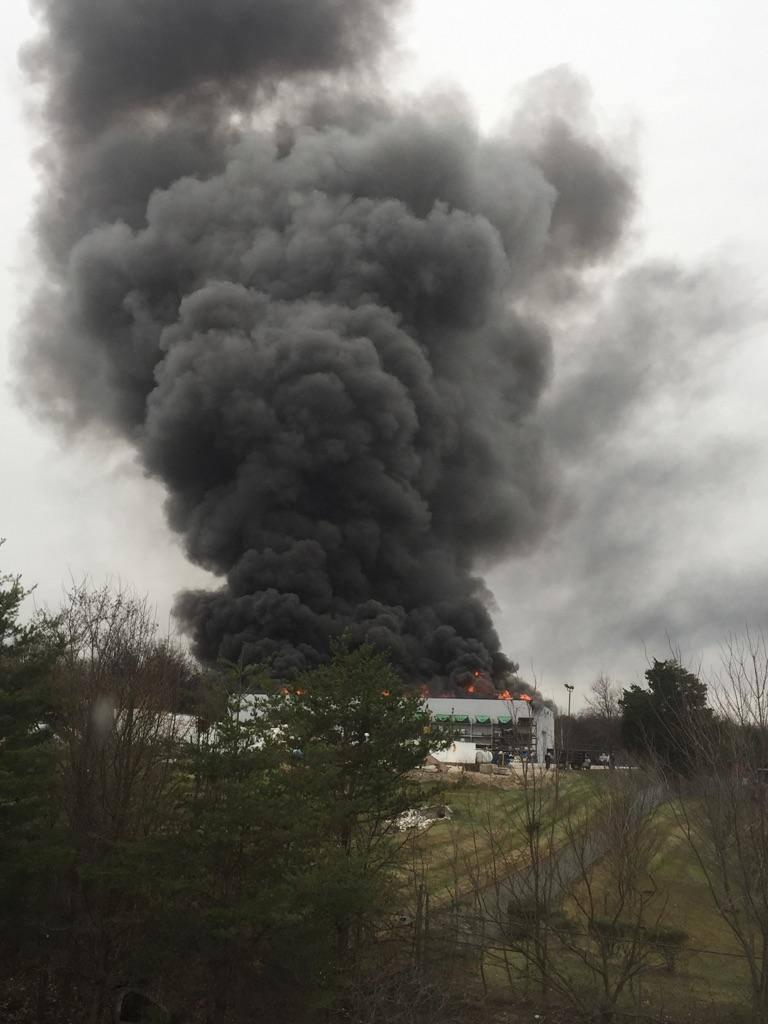 Rosedale Roofing Fire Proves Stubborn Work To Extinguish