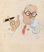 Ira Gershwin Al Hirshfield artist 1946