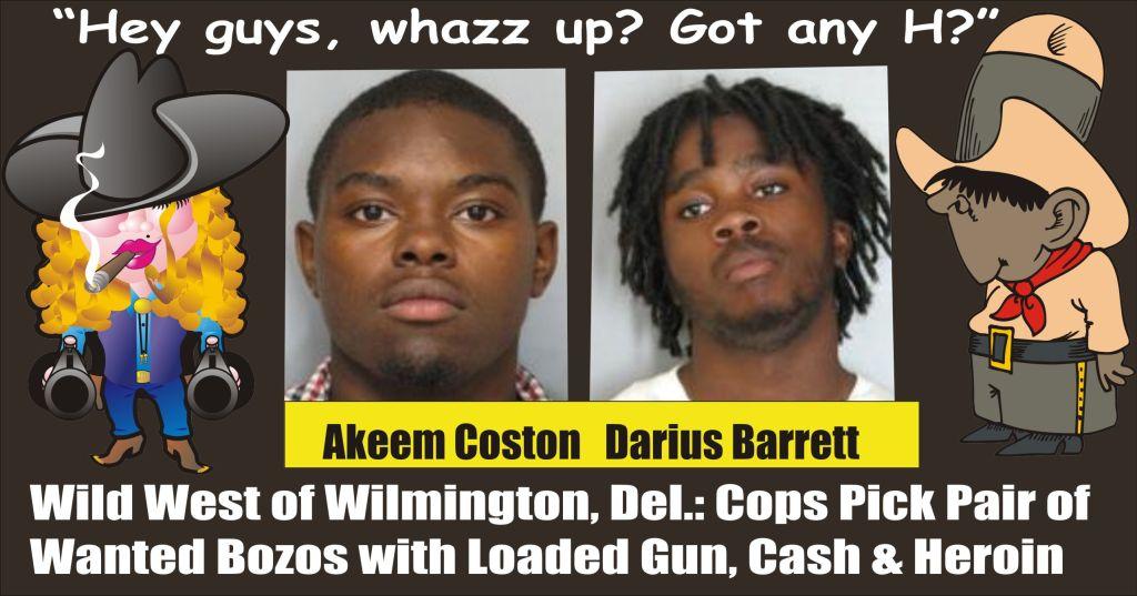 Pair of Wilmington Heroin Dealers Akeem Coston and Darius Barrett busted WPD 022515