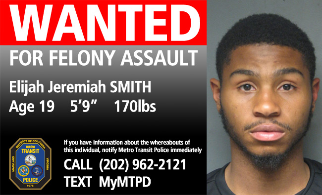 Elijah Jeremiah Smith wanted for assault at Metro station 043015