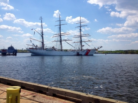 Coast Guard Barque Eagle finished with makeover to the 70-year-old ship.