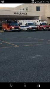 Bloxum Vol Fire company ambulances shown arriving at hospital a couple days before fatal crash.  Facebook photo