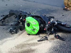 Dover stolen motorcycle into HHR 083015. Photo courtesy of Dover Fire Department.