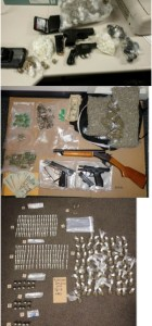 Guns pot and cash seized by Baltimore Cops