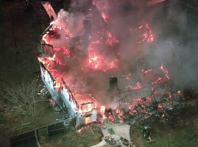 Accokeek blaze destroys house with sprinkler system. PGPD photo provided courtesy of Brad Freitas