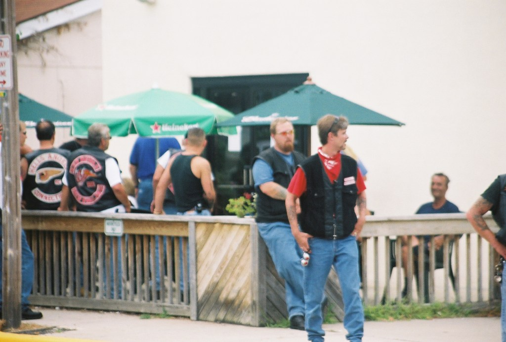 Threats to create biker gang violence was met with a large police presence at the North Beach festival.