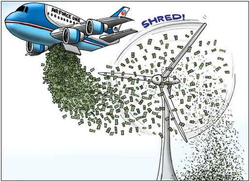 Air Force One shredding money