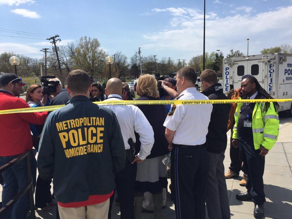 Deanwood Metro stop murder scene on 041216