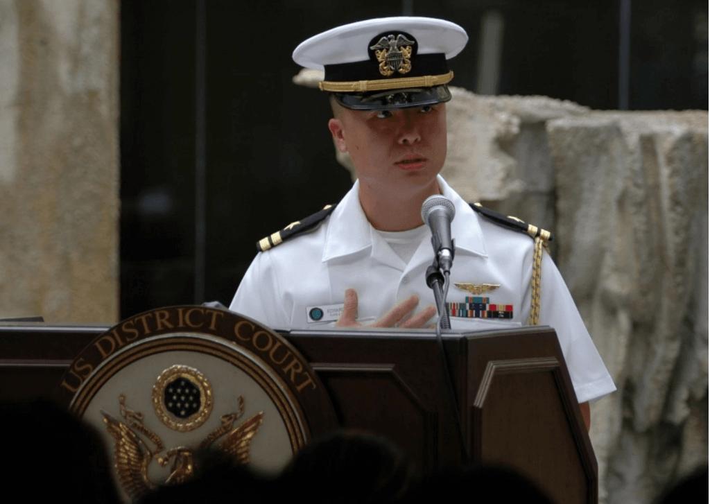 Naval Officer Edward Lin