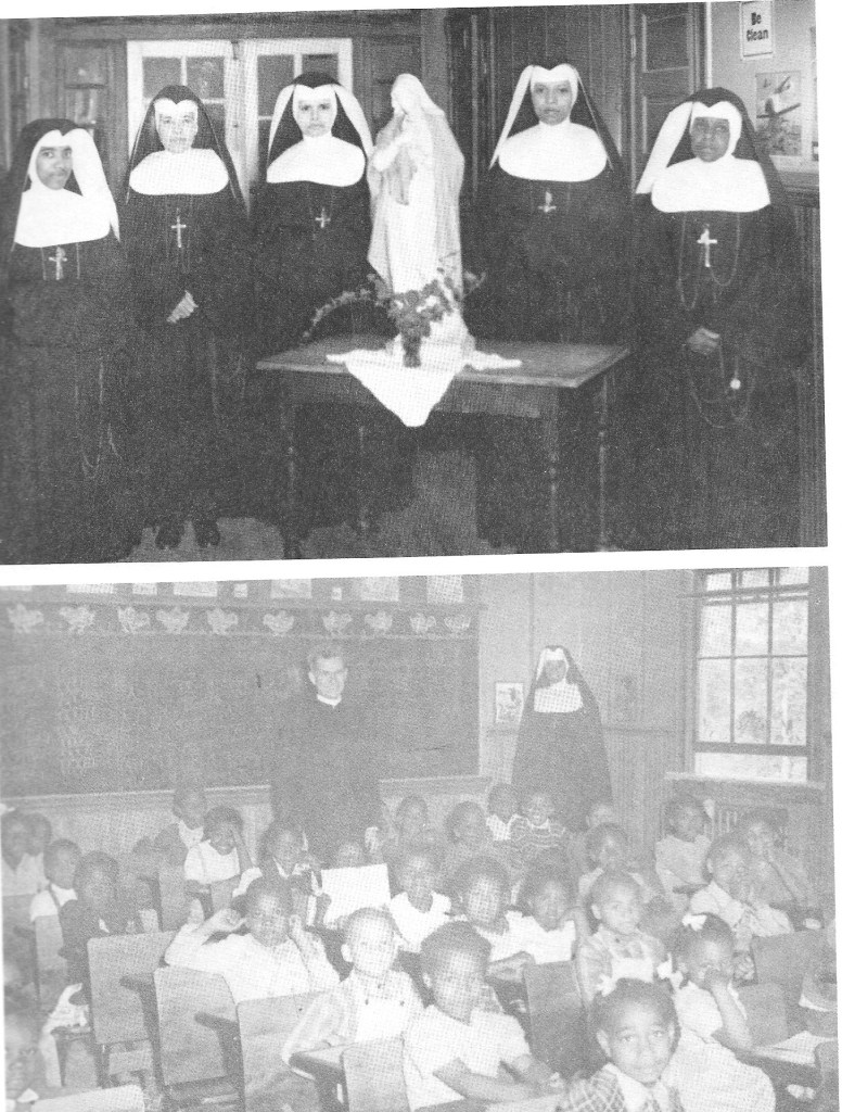Sisters of St. Peter Claver Church and students, many of whom likely want to Cardinal Gibbons School at St. Inigoes, Md.
