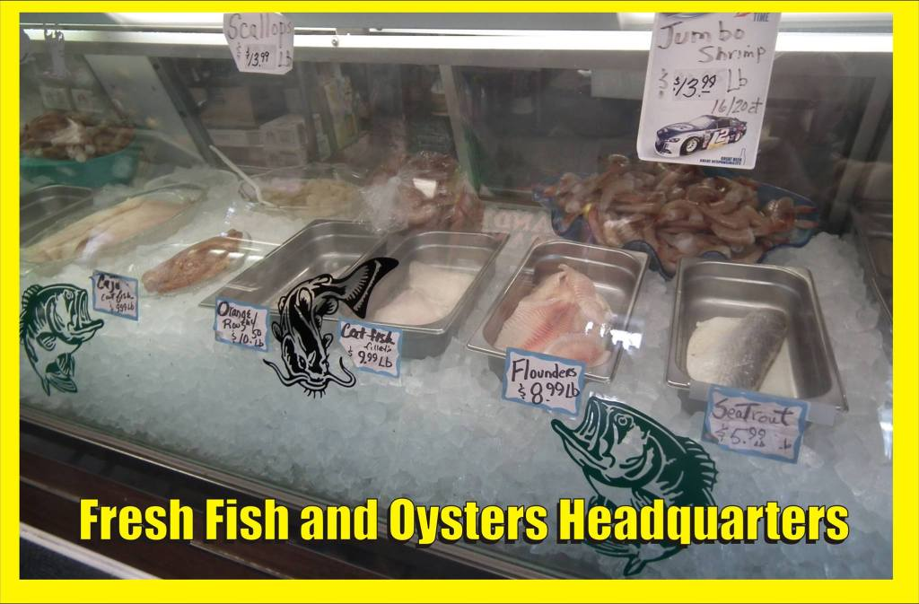 Leonard Copsey's Seafood Market ready to go case