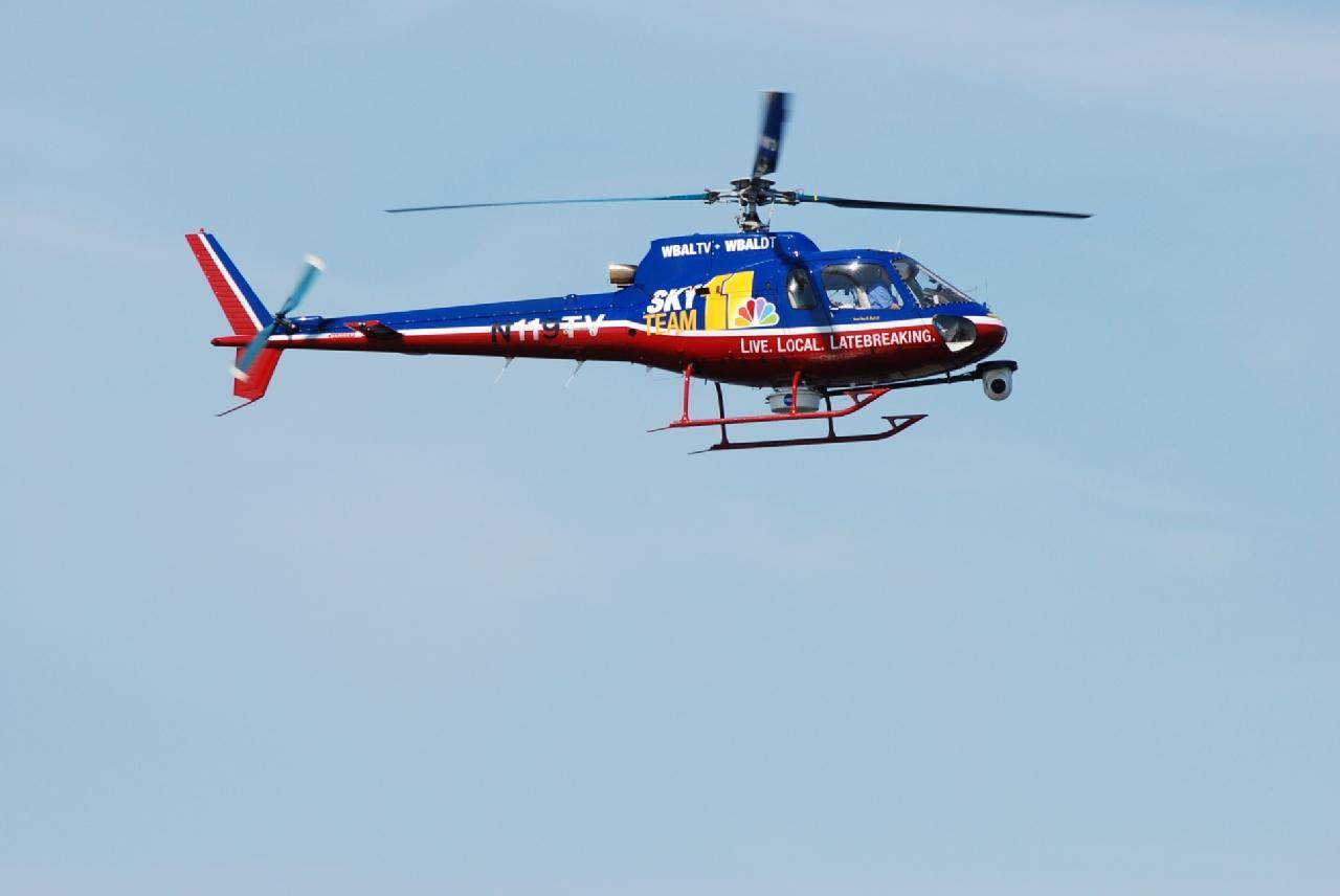 WBAL Sky Team news chopper photo courtesy of WBAL