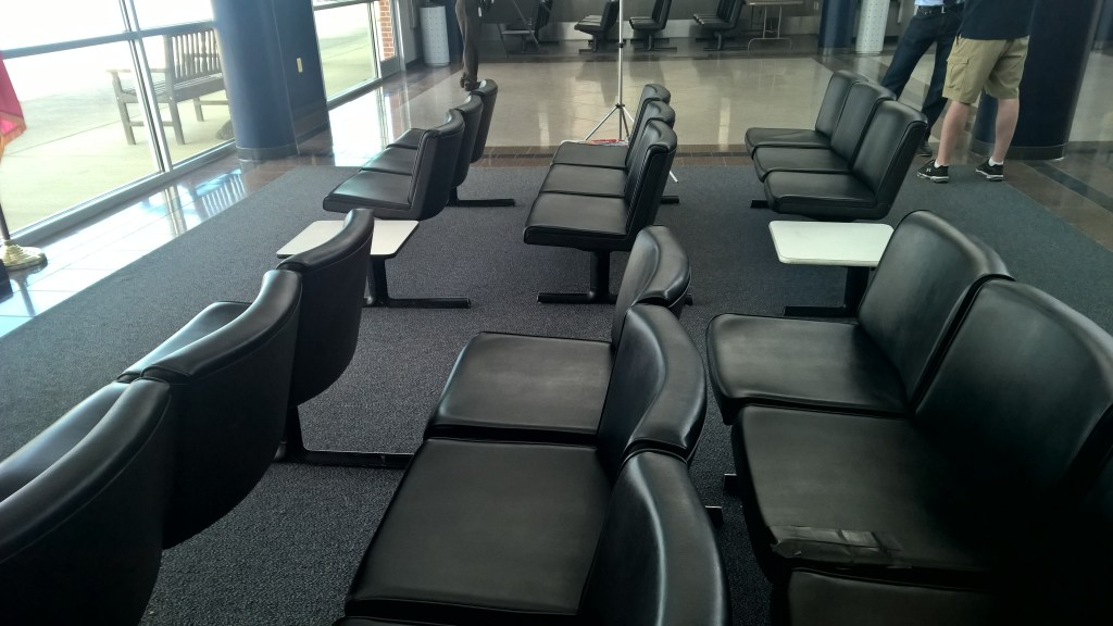 Maybe St. Mary's County could haul these empty seats to Reagan National Airport where seats are always in short supply. No paying passenger on a scheduled flight has ever spilled their coffee on these seats. THE CHESAPEAKE TODAY photo