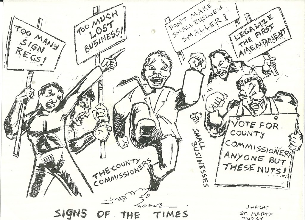 Politicians at every level of government continue to come up with new ways to tax and regulate small businesses. This scene showed the St. Mary's County Md. Commissioners in 1994