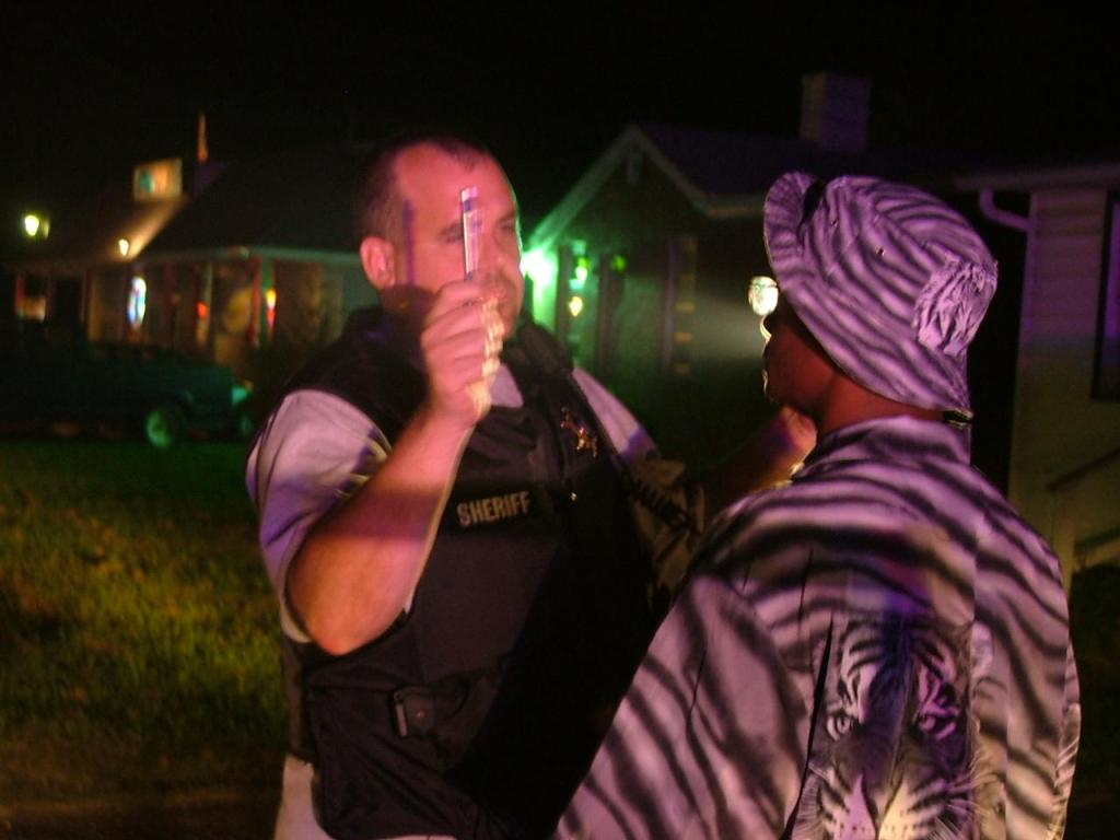 Captain Dan Alioto at scene of a DUI arrest in Great Mills, Md.