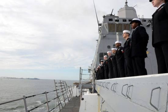 USS-Mesa-Verde-crew-at-attention.