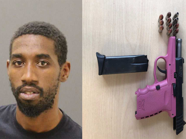 Kion Reed With His Pink Pussy Gun Nabbed By Baltimore Police