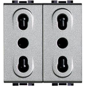 Light Tech - Presa Bipasso 2P+T 16A Duplex Nt4180/2