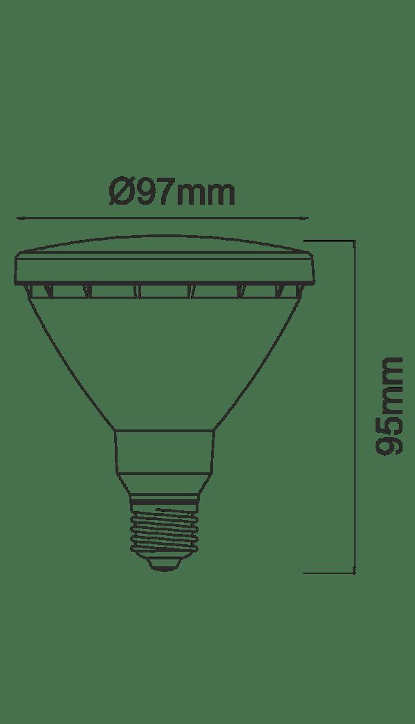 Lampadina LED PAR 30 E27 171160P30-C BENEITO