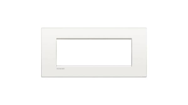Bticino Living Light Air Placca 7P Bianco Puro Lnc4807Bn