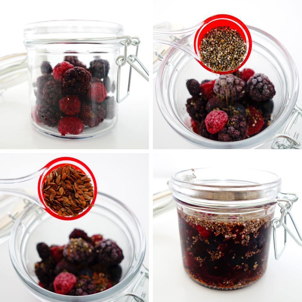 Berry Chia Pudding Steps