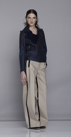 WandaNylon_SS14women_look301, Rain Gear, Rain Apparel, Water Repellent apparel, Water Repellent Garments, Rain Coats, Luxury Rain Coats, PVC, PVC clothes, Fashion Blogger, Fashion blog, New York Fashion Blog, Water Repellent Pants