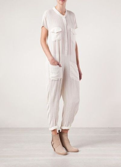 Farfetch, Far fetch, far fetch clothing, Raquel Allegra, Raquel Allegra Clothing, White Jumpsuit, White overalls, Wide Leg, Wide leg overalls, Summer White, jumpsuits, jumpsuits for women, overalls for women, ladies jumpsuits, ladies playsuits, latest fashion trends, latest trends in fashion, latest fashion trends, summer clothes for women, women