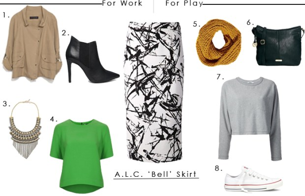 For Work + For Play | A.L.C Bell Skirt