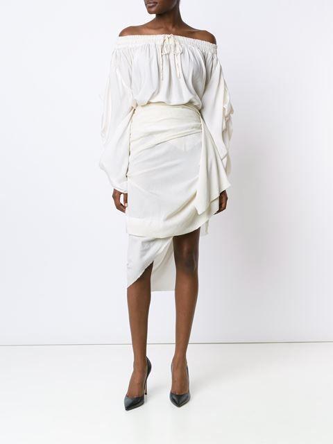 Vivienne Westwood Gold Label Draped Off-shoulder Blouse - Anastasia Boutique - Farfetch.com, Fashion trends 2016, 2016 fashion trends, fashion trend 2016, trends for 2016, spring summer 2016 trends, trends 2016, 2016 fashion trend, 2016 trends, trend 2016, spring summer 2016, fashion 2016