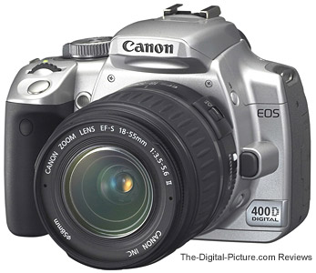 Canon EOS 400D Digital Rebel XTi in Silver