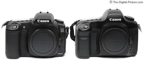 Canon EOS 20D / 5D Size Comparison