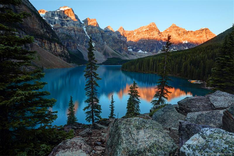 Moraine Lake Sunrise Banff National Park