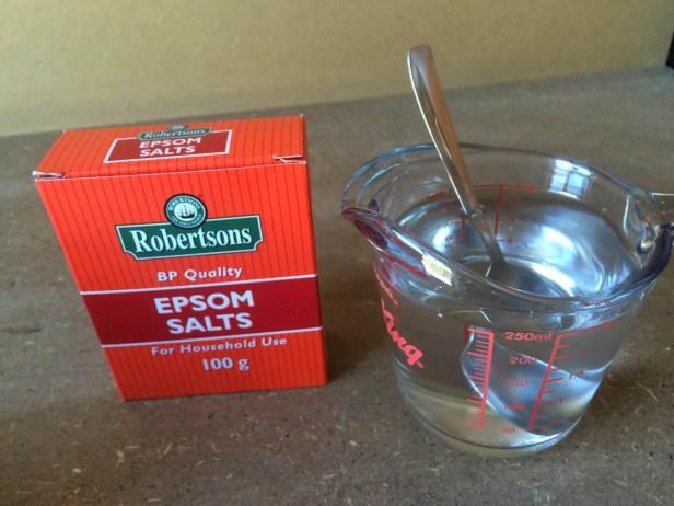epsom salt solution