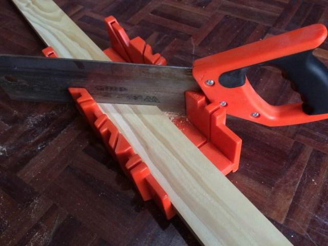mitre box cutting