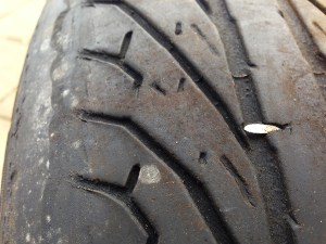 nail in tyre