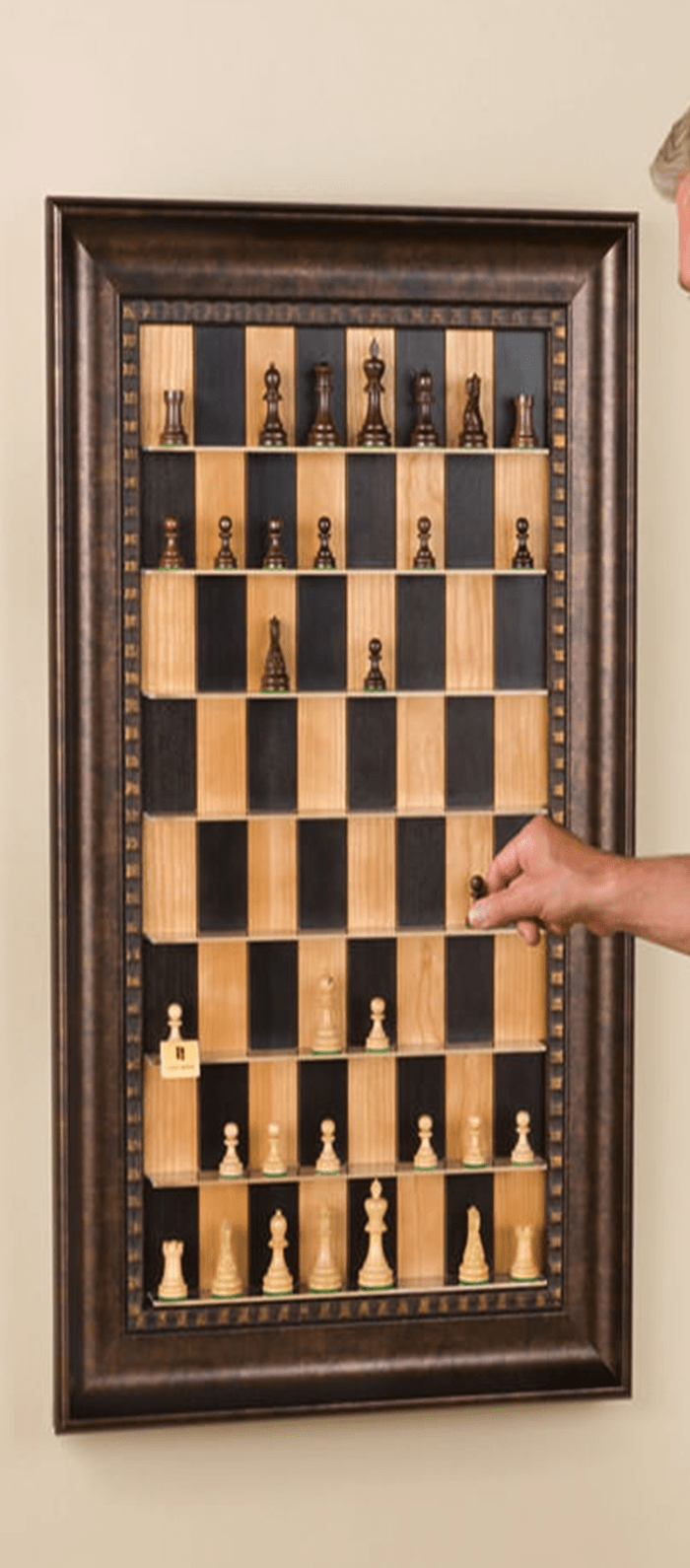 Vertical Chess Board To Hang On Your Study Wall The Diy Life