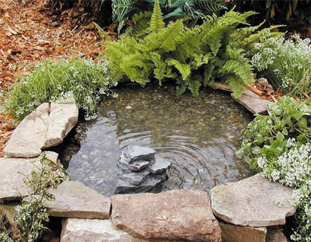 completed tyre pond