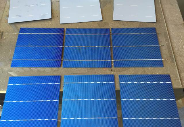tabbed solar cells