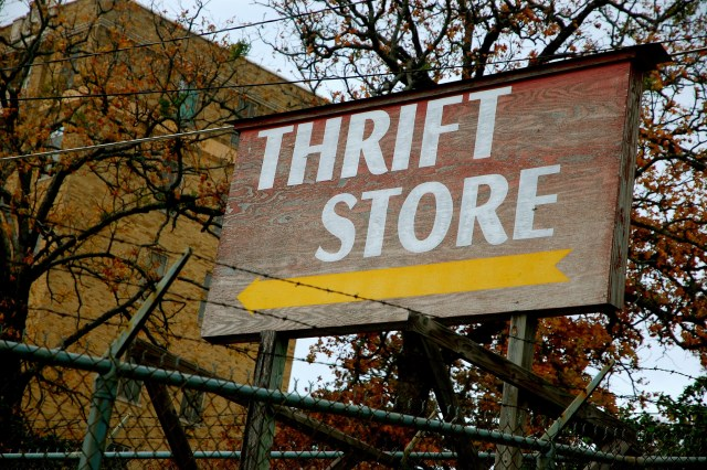 shop at the thrift store