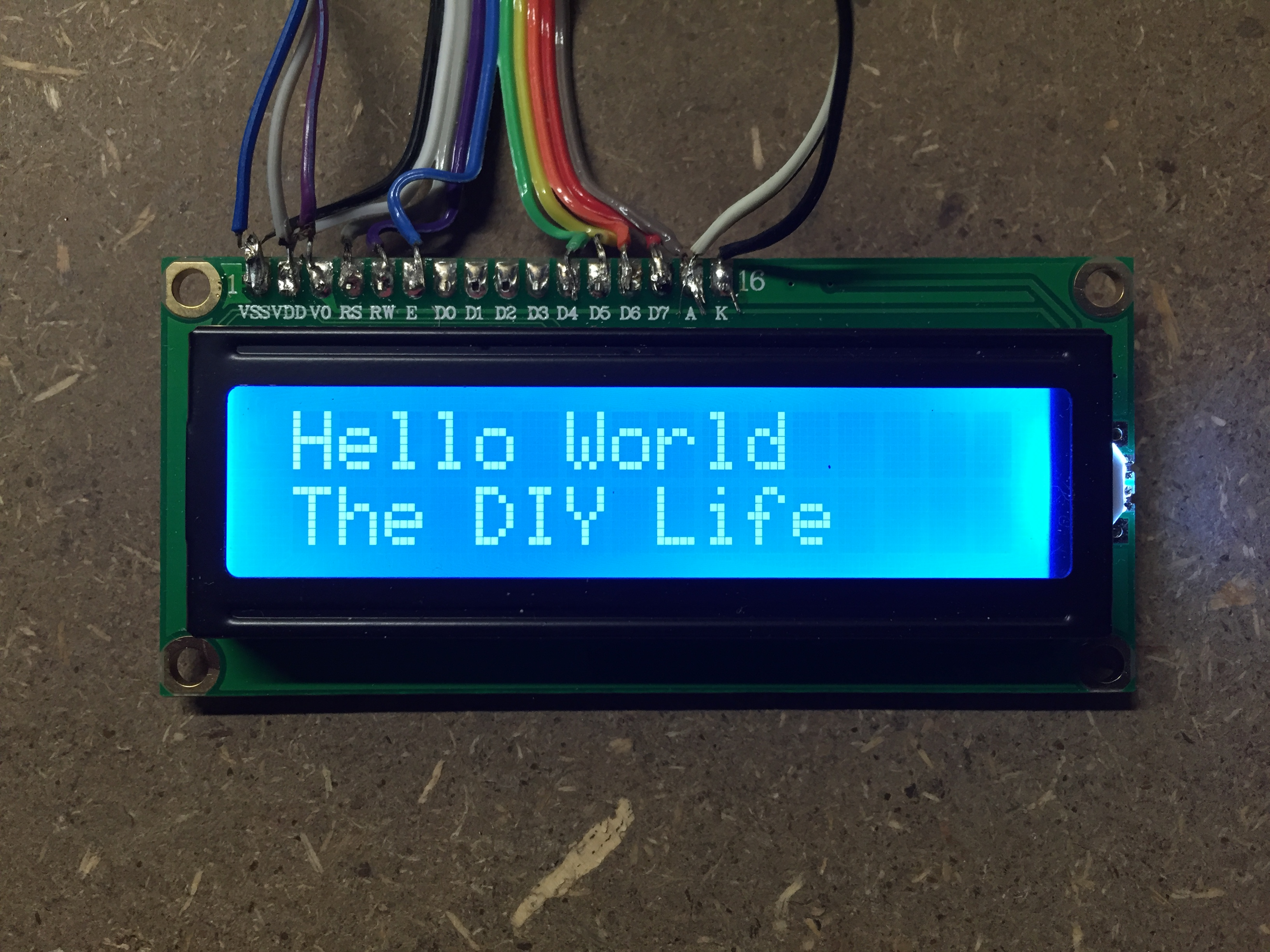 Lcd Screen Connection To An Arduino The Diy Life Wiring Text Display