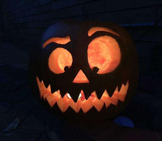 carving a jack o lantern