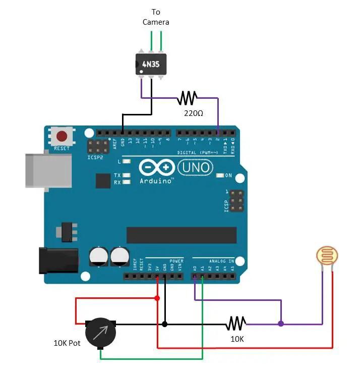 Arduino lightning camera trigger the diy life
